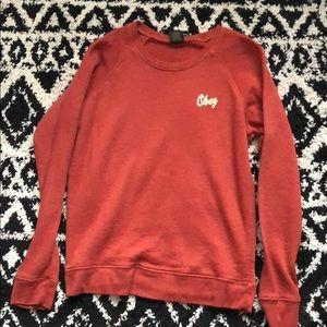 Tops - Cozy burnt orange Obey sweatshirt